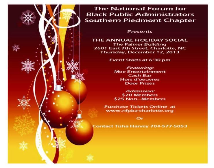 NFBPA Holiday Social December 12th